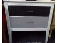 Up-cycled chest of drawers.