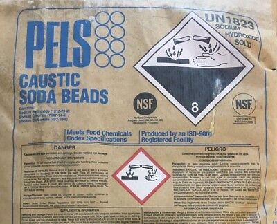 Sodium Hydroxide Naoh Fccusp Prilled Minimum 99 Pure 2lb