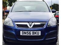 2007 (FEB07) VAUXHALL ZAFIRA 1.6 LIFE - PETROL - 7 SEATS - LOW MILES - LONG MOT - MANUAL