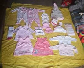Baby girl clothes bundle 0-3 and 3-6 months - 76 items