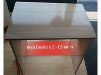 2 x Ikea Desks
