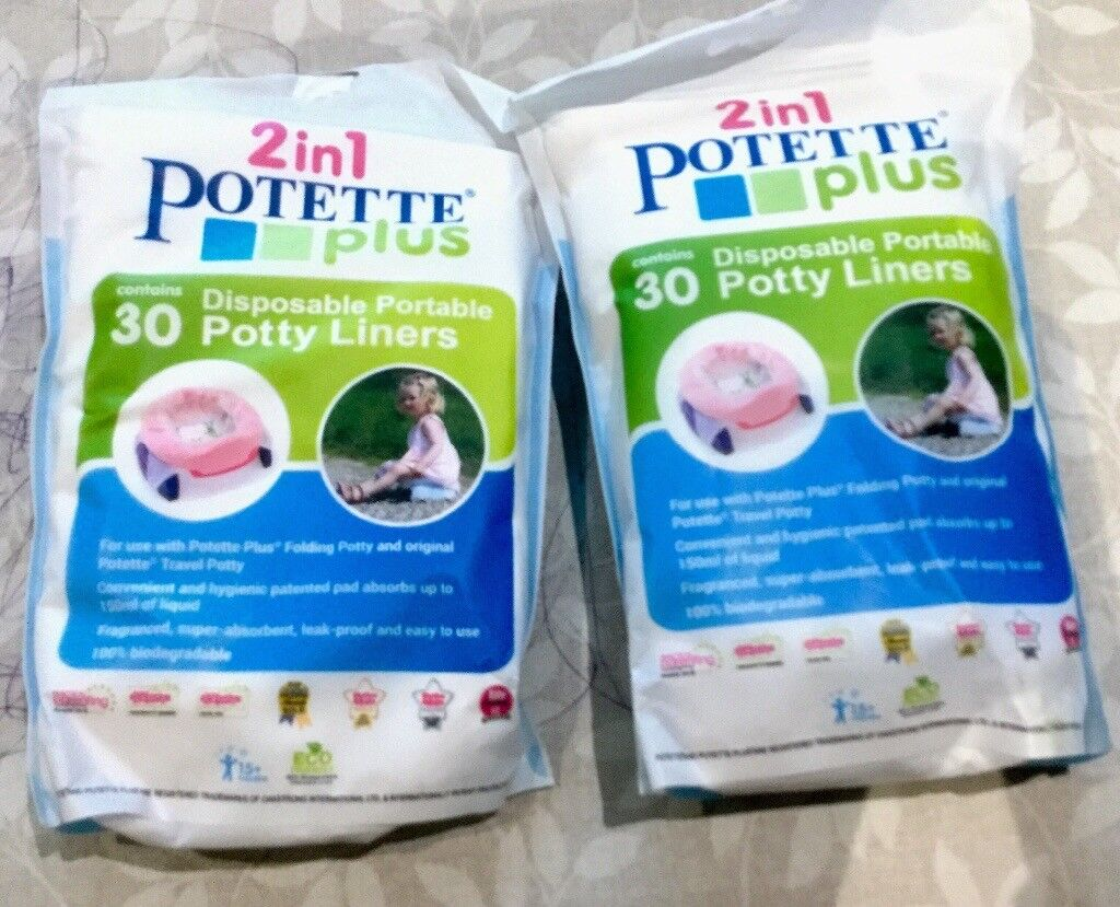 Two packs of potette liners