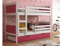 New KIDS -CHILDREN -TODDLER -JUNIOR BUNK BED WITH MATTRESS AND DRAWERS 1