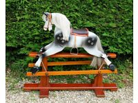 LARGE OLD ROCKING HORSE BY PATTERSON EDWARDS, LEEWAY FOR SALE