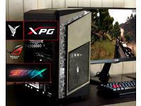 New Custom Gaming Desktop PC Fast Performance Intel i3 8GB Nvidia GTX 1050ti 1TB HDD Win10