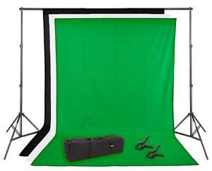 Photo Studio Video Backdrop Kit Stand Support Écran Toile 2012