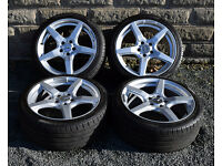 "18"" Mercedes SLK alloy wheels tyres 5x112 R170 R171 C E class W210 W211 W203 alloys - wheels"