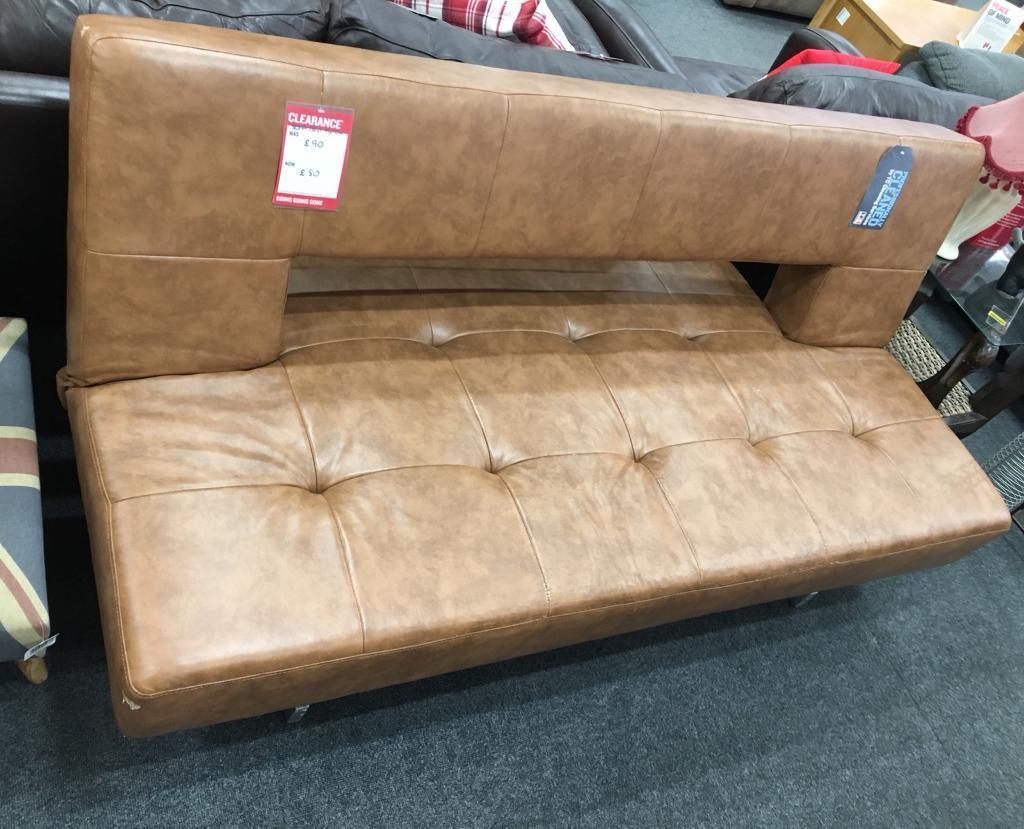 Bhf Foam Sofa Bed Futon Brown Leather Clearance In Swindon Wiltshire Gumtree