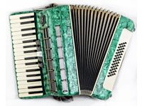 Baile 48 Bass (4x12) - 3 Voice LMM - 34 Piano Keys Accordion - Pearl Green Finish