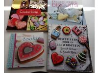 4 biscuit/cookie baking books in excellent condition
