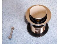 ***Brand New Slotted Basin Waste/ Brass Pushdown****