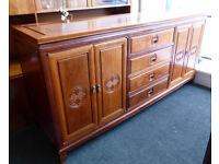 Oriental Design Hardwood Sideboard Cabinet