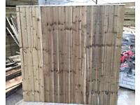 🍀 •New• Pressure Treated Feather Edge Straight Top Wooden Garden Fence Panels ~ Various Sizes