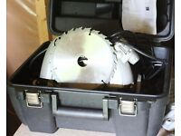 190mm circular saw in case spare blade
