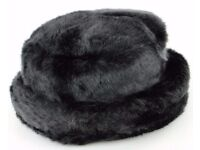 Brand New Ladies Winter Black Faux Fir Hat