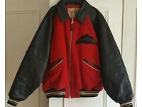Vintage Avirex Varsity Jacket XXL Wool/ Leather