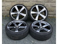 "19"" Rotor Style alloy wheels tyres 5x112 Audi A3 A4 A6 TT MK2 alloys - wheels"
