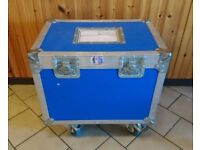 Wheeled Flight Case - Split Sections - Foam Lined - Good Condition