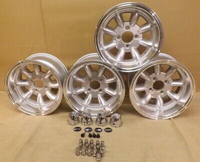 MINI 7x13 DEEP DISH JBW MINILIGHT ALLOY WHEELS CAR SET OF 4, 13x7 -7ET, 4X101.6