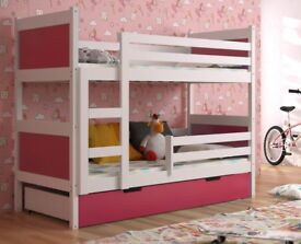 New KIDS / CHILDREN /TODDLER /JUNIOR BUNK BED WITH MATTRESS AND DRAWERS 1