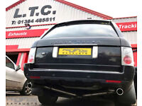 Range Rover Vogue and Dual Rear No Boxes Stainlees Steel Exhaust