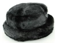 Brand New Ladies Winter Black Faux Fur Hat