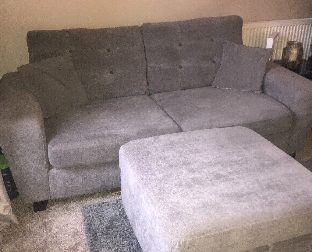 Sofology Pronto Sofa And Footstool For Sale Less Than 2