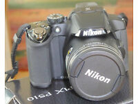 Nikon Coolpix P510 Digital Bridge Camera - Black 42 X optical zoom. Excellent condition