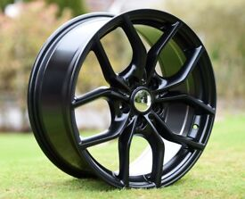 """NEW FORD FOCUS MONDEO FIESTA RS ALLOY WHEELS 5 X 108 18"""" 8.0J 5 x 108 63.4 MM BORE"""