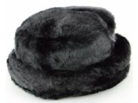Brand New Ladies Winter Black Faux Fir Hat