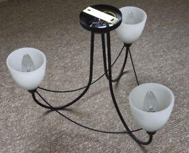 3 lamp ceiling light fitting