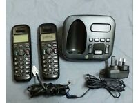 BT STUDIO 5500 PLUS CORDLESS PHONE WITH ANSWERING MACHINE WORKING 2 Handsets