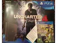 PS4 Slim 500gb. Brand new sealed with two games and reciept