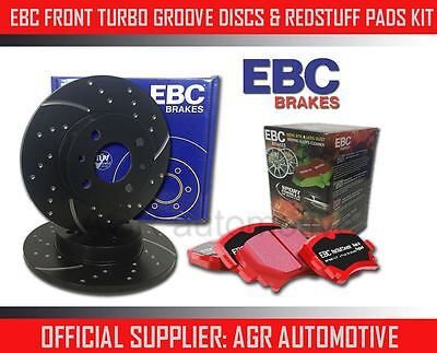 EBC FRONT GD DISCS REDSTUFF PADS 236mm FOR OPEL ASTRA 14 AUTO 1991 98 OPT2