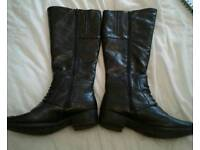 Real leather boots size 5