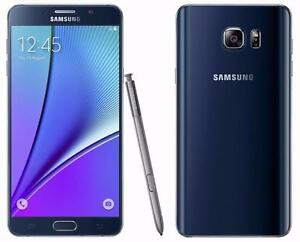 Samsung Galaxy Note 5 32GB Black UNLOCKED ( including Freedom / Chatr ) MINT /w case and screen protector $400 FIRM
