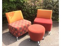 Funky Retro Style Chairs and Stool
