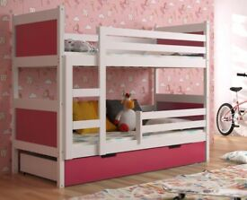 NEW!!! BUNK BED FOR CHILDREN / WITH FOAM MATTRESS AND DRAWER 190 x 85