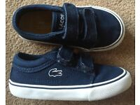 Navy Lacoste Canvas Trainers - Infant Size 6