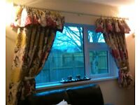 BARGAIN!!! Stunning Handmade Floral Design Curtains. Immactulate Condition!!!