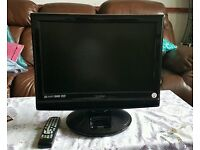 """TECHNIKA 19"""" HD LCD TV DVD COMBI IN JET BLACK - WITH BOX AND REMOTE"""