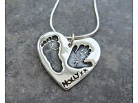 Fingerprint, Handprint & Footprint Personalised Jewellery