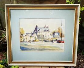 Vintage water colour painting by D Scoble