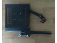 Black laptop stand (desk mount)