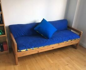 Handmade Solid Pine Sofa Bed with Futons