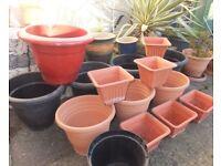x18 Assorted Plant Pots - See Description.