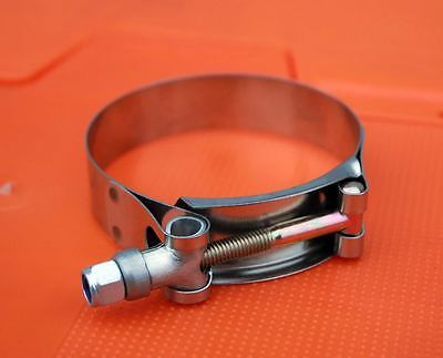 10 x Any Size Stainless Hose Radiator Exhaust T-clamp Clamp Mikalor - 1.75
