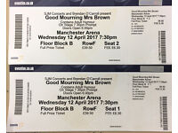 Good Mourning Mrs Brown tickets Manchester Wed April 12th Fllor block B