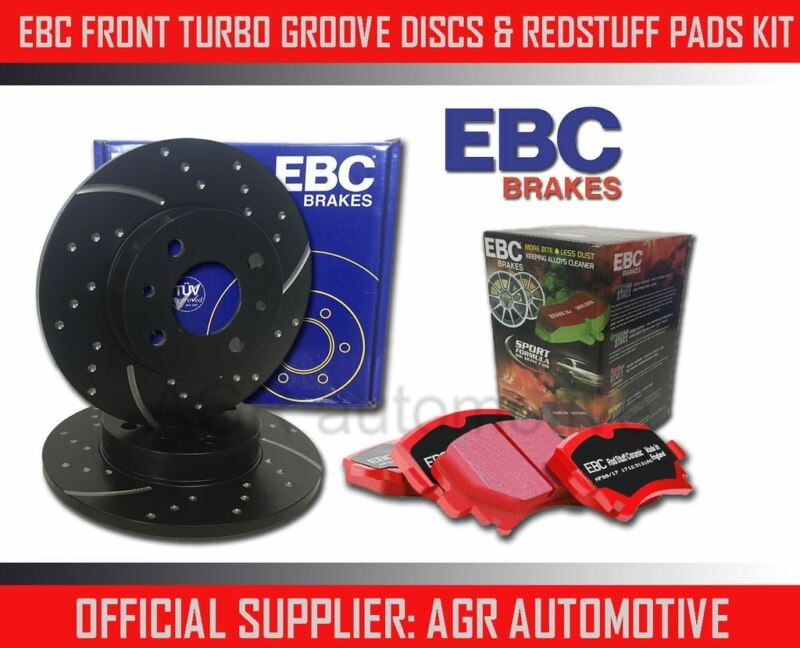 EBC FRONT GD DISCS REDSTUFF PADS 296mm FOR LEXUS IS300H 2.5 HYBRID 2013-