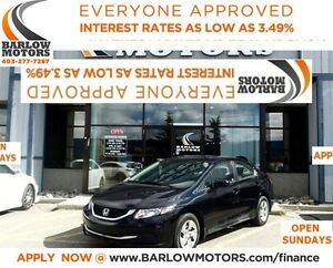 2014 Honda Civic LX*EVERYONE APPROVED* APPLY NOW DRIVE NOW.